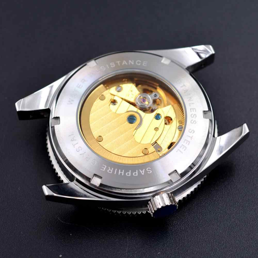Sterile 41mm Debert Black dial Sapphire Glass black ceramic bezel Luxury Nylon strap Automatic Mechanical wristwatches men watch