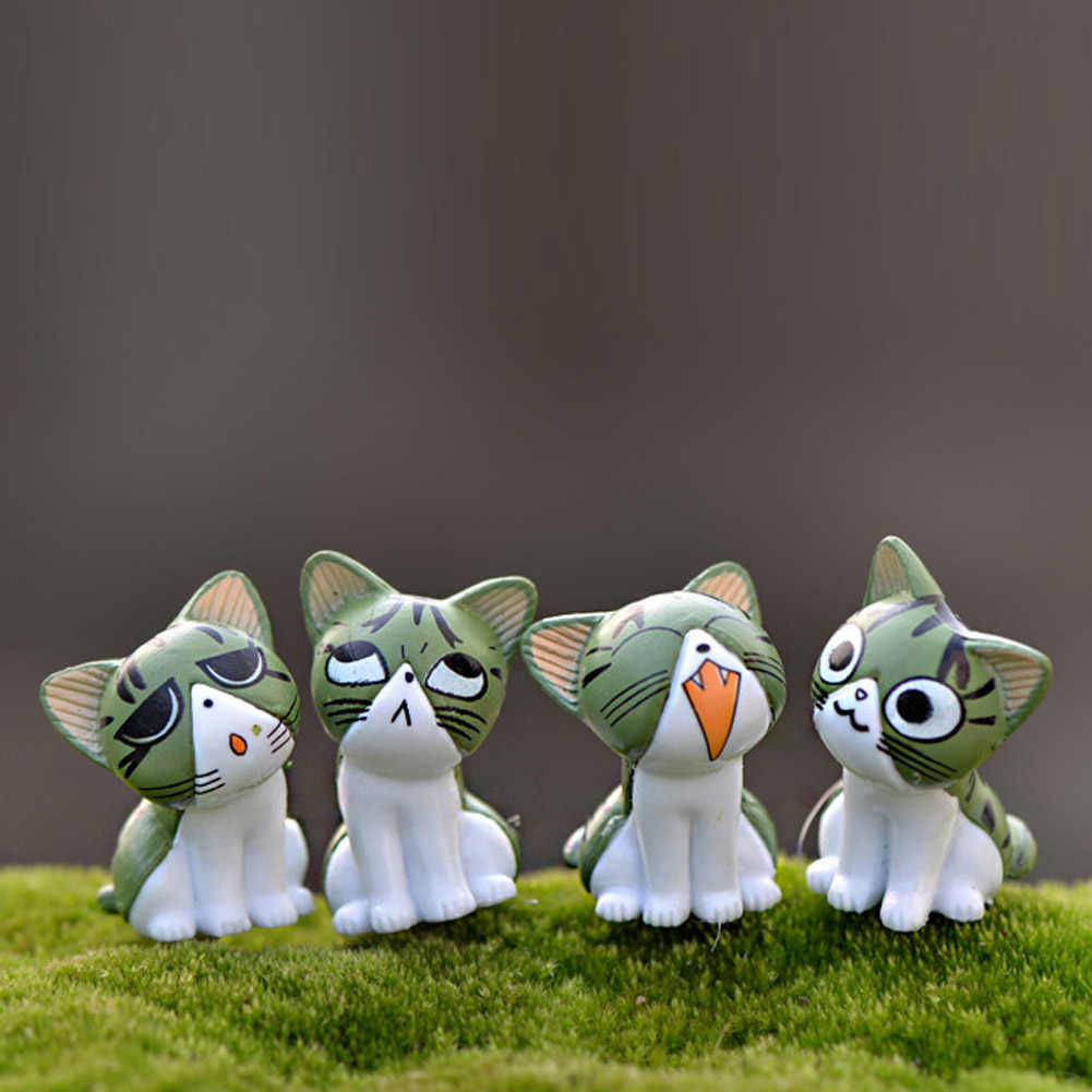 نمط عشوائي الجبن القط مصغرة التماثيل لطيف جميل نموذج الاطفال اللعب PVC الشكل العمل العالمي دمى أشكال نمط-عشوائي