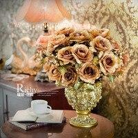 Модный с искусственными цветами розовый искусственное цветочное украшение цветок свадебный подарок