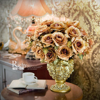 Fashion artificial flower rose artificial flower decoration flower wedding gift