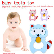 Cartoon Baby Silicone Teethers Koala Owl Elephant Ring Teether Chew  Teething Gift Toddler