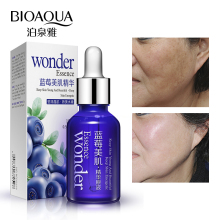Bioaqua Blueberry Hyaluronic Serum Acid Liquid Skin Care Anti Wrinkle Collagen Essence Face Care Whitening Moisturizing Oil bioaqua blueberry wonder essence for face skin care effect plant extract anti wrinkle facial serum sodium hyaluronate serum