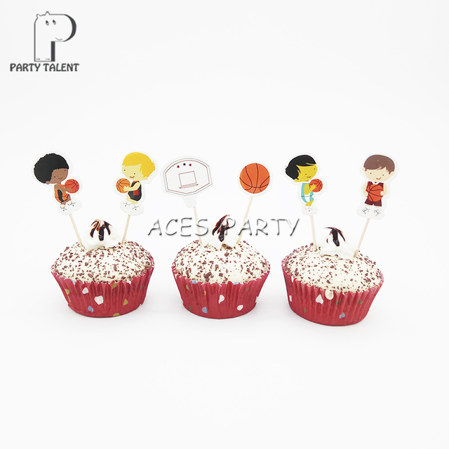Party Supplies Sports Theme Basketball Kids Toppers For Kids