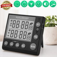 Digital Kitchen Timer Cooking Timers  Magnetic timer  loud alarm  memory stopwatch magnetic back, white / black portable 1 7 lcd digital kitchen timer green white black