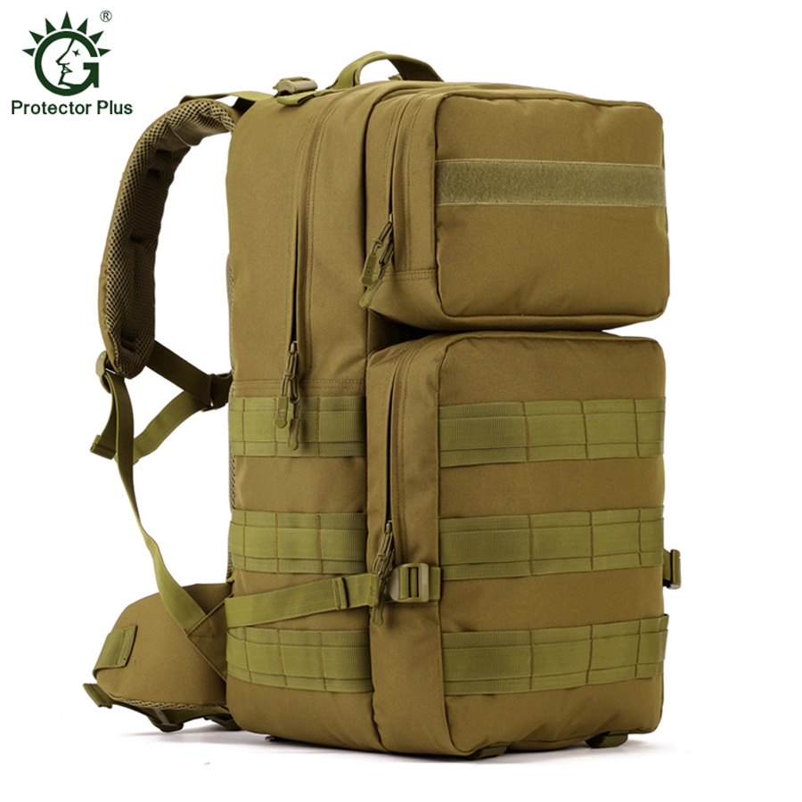 Outdoor Sport Military Tactical Backpack Hiking Travel Climbing Bags Camping Rucksack Tactical Bag Sport 55L Camouflage
