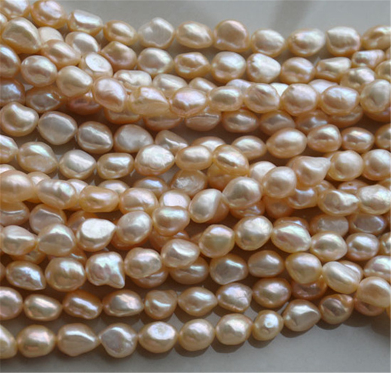 SNH 5strands/package natural freshwater pearl strand wholesaele