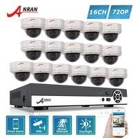 ANRAN 16CH 720 P High Definition AHD DVR Zestawy 30 IR wodoodporna Kopuła W/Na Zewnątrz 1800N Kamery CCTV System Bezpieczeństwa APP widok