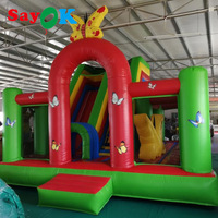 Inflatable Bouncer Butterfly Castle and Slide 5x6x4m Inflatable Trampoline with Air Blower for Amusement Park/Outdoor Sports