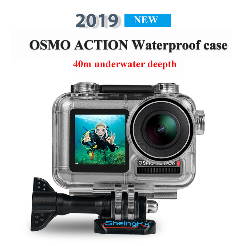 PATCHSKY 40m Diving Waterproof case shell for DJI OSMO ACTION Camera protective Housing Accessories for water sports activity