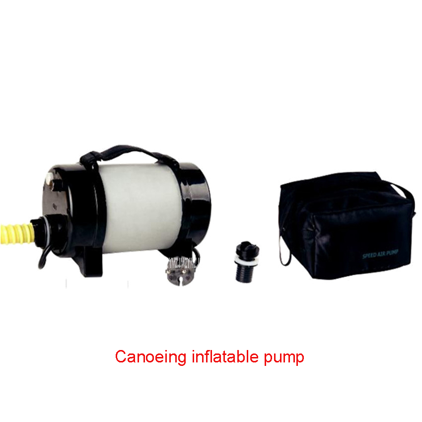 220-240V /50 Hz Canoeing Boat Rowing Boats AC Electric Inflatable Pump 2100L / MIN Exhaust gas 31KPa Canoeing inflatable pump rowing boats rubber boat kit pvc inflatable fishing drifting rescue raft boat life jacket two way electric pump air pump paddles