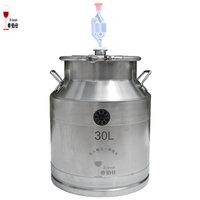 30L Bucket 304 Stainless Steel Barrel Milk Barrel Portable Cow Milker Stainless Steel Tank Home Brewing Fermenter Storage Tank