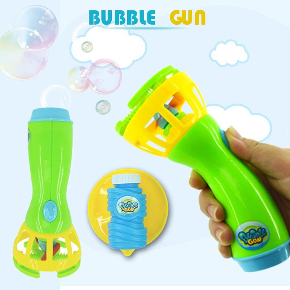 Hot Bubble Gun Toys Summer Funny Magic Bubble Blower Machine Bubble Maker Mini Fan Kids Outdoor Children Bubble Blowing #zk