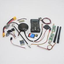 (Chapado en oro Zócalo) Pixhawk PX4 Regulador de Vuelo y GPS NEO-6M 2.4.6 ARM de 32 bits Tarjeta de 8G TF y Led y PPM 433 Mhz