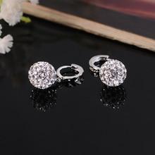 X&P Silver Plated crystal women earrings long earrings fashion Drop earrings charming fashion jewelry Gift for Women Girl