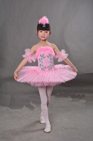 4 Color Girls Ballet Tutu Dance Dress Children Professional Swan Lake Dancewear Stage Costumes Hard Organdy