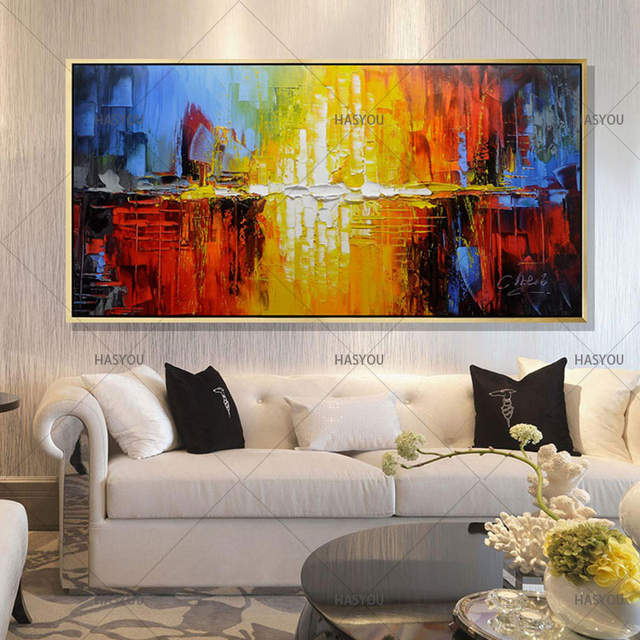 Fine Us 26 52 49 Off 100 Handmade Oil Painting On Canvas Modern Abstract Decorative Art Living Room Home Decor Best Gift Large Art Cheap Paintings In Home Interior And Landscaping Ologienasavecom