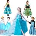 Explosão de congelados congelados dos desenhos animados vestido de princesa saia das crianças