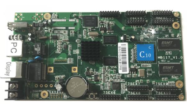 C10C HD-C10C Wifi Asynchronous Indoor & Outdoor full color LED Video Display Controller card comes with 10 Groups HUB75E   C10C HD-C10C Wifi Asynchronous Indoor & Outdoor full color LED Video Display Controller card comes with 10 Groups HUB75E