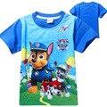 Crianças 2016 Meninos de Verão Cães Dos Desenhos Animados T Shirt Tops T T-Shirt Do Bebê menino Roupas Crianças Roupas Trolls PATRULHA