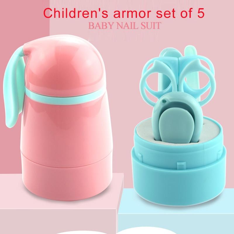 Набор кусачки для ногтей Babynailscissor с длинными ушками гладкие синие и розовые банные ножницы с кроликом детская чистка здоровый резак