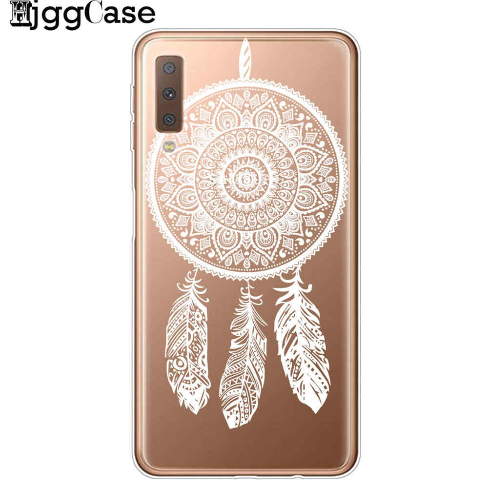 Retro Mandala Flower Soft Silicone Cover For Samsung Galaxy A3 A5 A7 2017 A520 A6 A8 Plus A750 A9 2018 Phone Case Fundas Coque