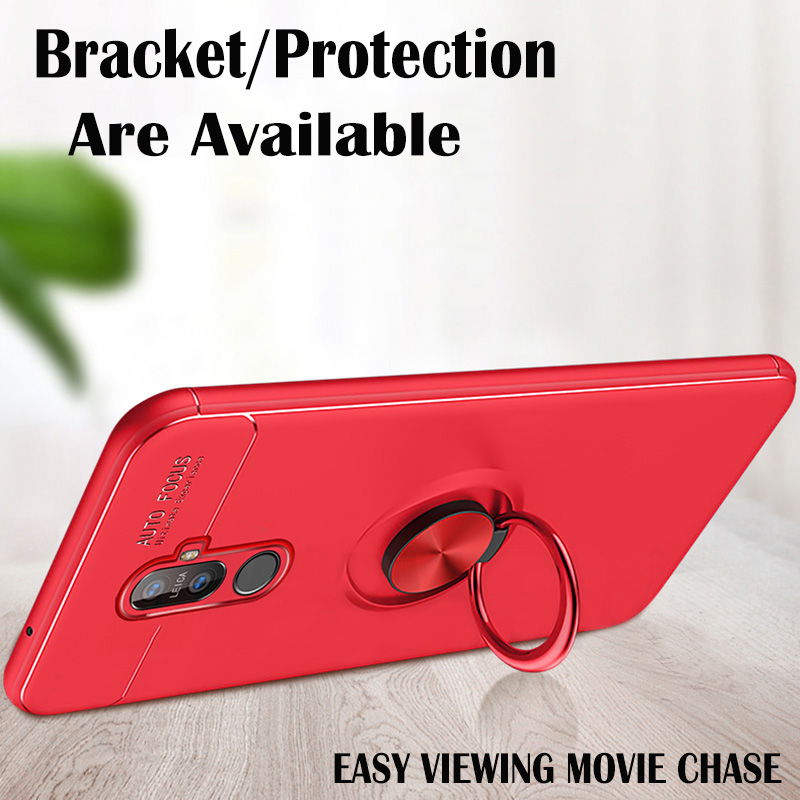 Image 5 - Magnetic Phone Holder Case on For Xiaomi Redmi Note 5 7 Mi 9T Pro Note 4X 4 Case Ring Stand Cover Silicone Back Protector Case-in Fitted Cases from Cellphones & Telecommunications