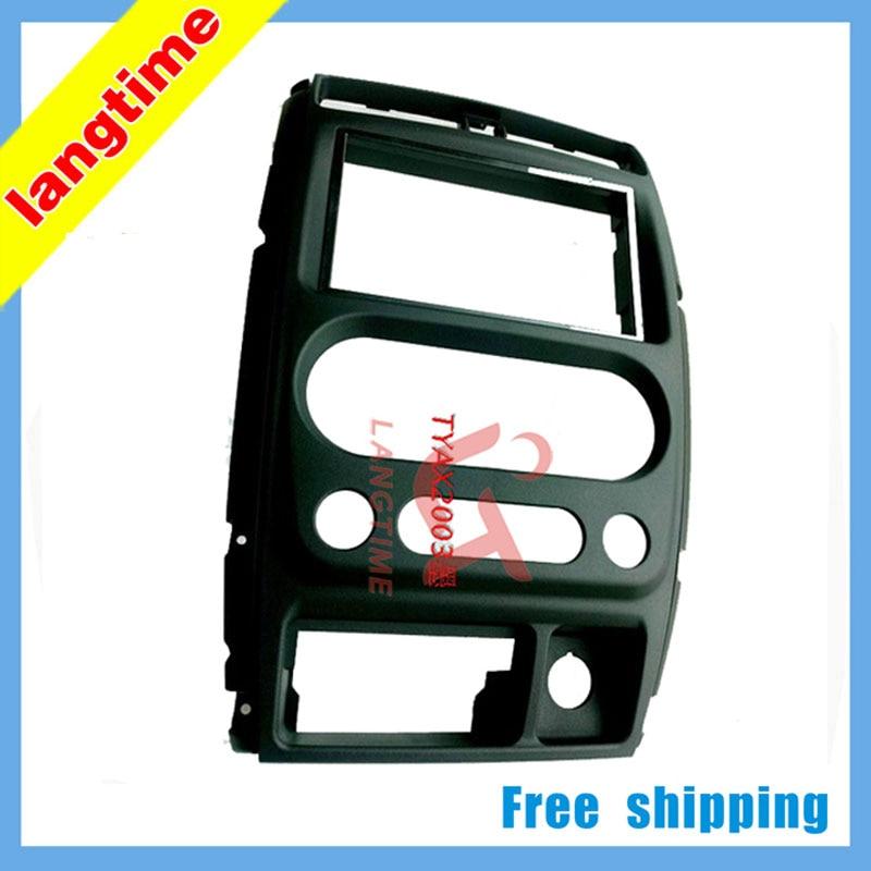 Free shipping--car refitting dvd frame/front bezel/dvd panel for 08-13 Suzuki jimny , 2DIN free forever 2 dvd
