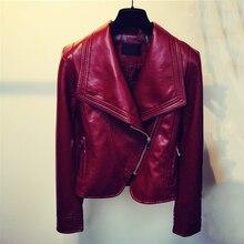 Mulheres jaquetas de motoqueiro de couro de alta qualidade estilo americano marca slim mulheres jaqueta de couro falso nova chegada 2017 bape clothing c859