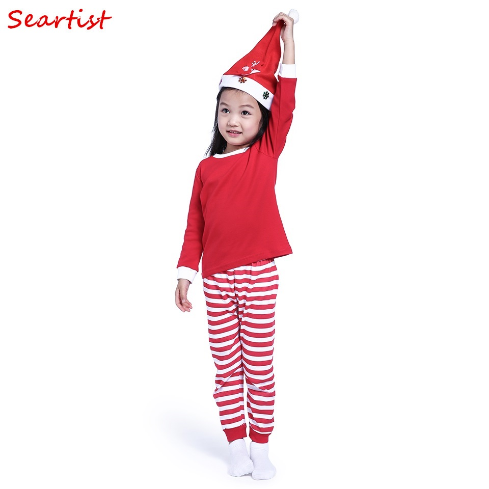 Nightwear, Cotton, Set, Boys, Striped, Red