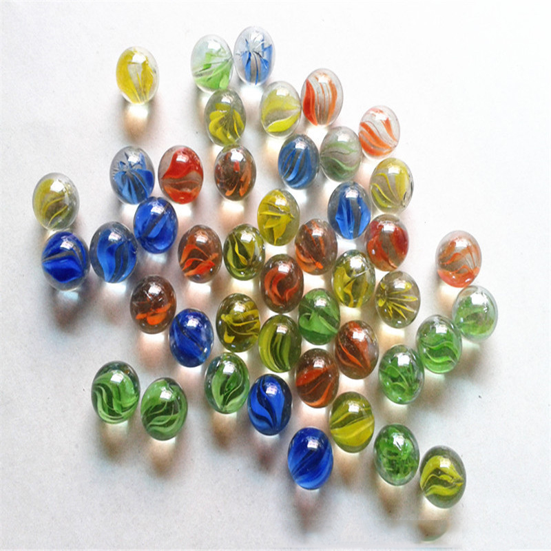 20pcs The Glass Ball 14mm Glass Bead Game Pinball Machine Ox Console Small Marbles Pat Music Parent-child Machine Bead