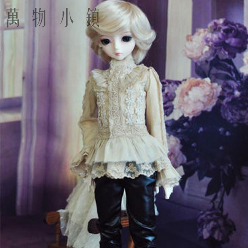 New Arrival 1/3 1/4 BJD SD MSD Doll Clothes Palace Style Black tea shirt 2pcs handsome tops 1pair new fashion sd bjd doll accessories casual shoes for bjd doll 1 4 1 3