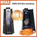 2 Шт./лот 6 угол lpg пожарная машина dmx пламени машина Пламени Проектор 200 Вт Пламени Эффекты DMX 512 стадия эффект оборудование