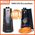 2 Pcs/lot 6 angle lpg fire machine dmx stage flame machine Flame Projector 200W Flame Effects DMX 512 stage effect equipment