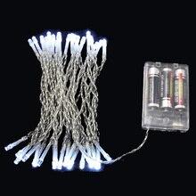 3 м и формирующая листы для кровли 4 м 5 м 10 м светодиодный Праздничная гирлянда 3XAA Батарея работает Рождество Рождественские огни для венок праздничный вечерние Свадебные украшения