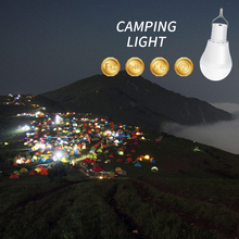 Solar LED Light Outdoor Camping Portable Bulb 15W Power Garden USB Rechargeable Emergency Energy Lamp