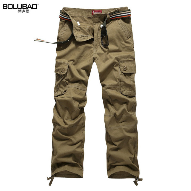 2016 New Arrival High Quality Summer Style Top Fashion Clothing Solid Mens Cargo Pants Cotton Plus Size Men Trousers Joggers
