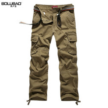 Bolubao Men Cargo Pants Brand New Quality Cotton Casual Solid Mens Military Trousers Multi Pockets Men Tactical Pants