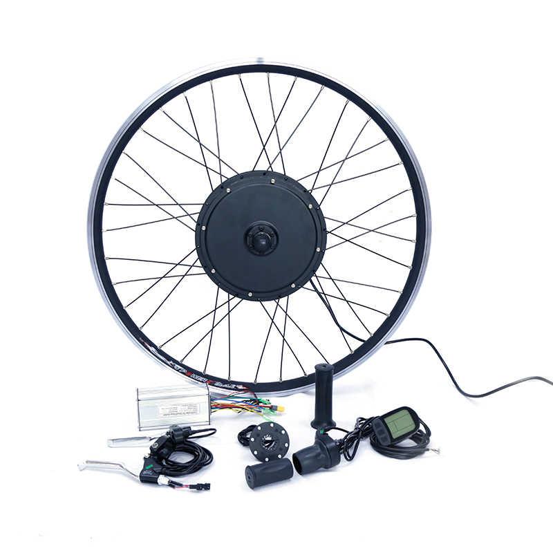 Kit de vélo électrique 1500w moteur roue 48V E Kit de vélo 1500W moteur de roue Kit de Conversion de vélo électrique pour 20-29in moteur de moyeu arrière