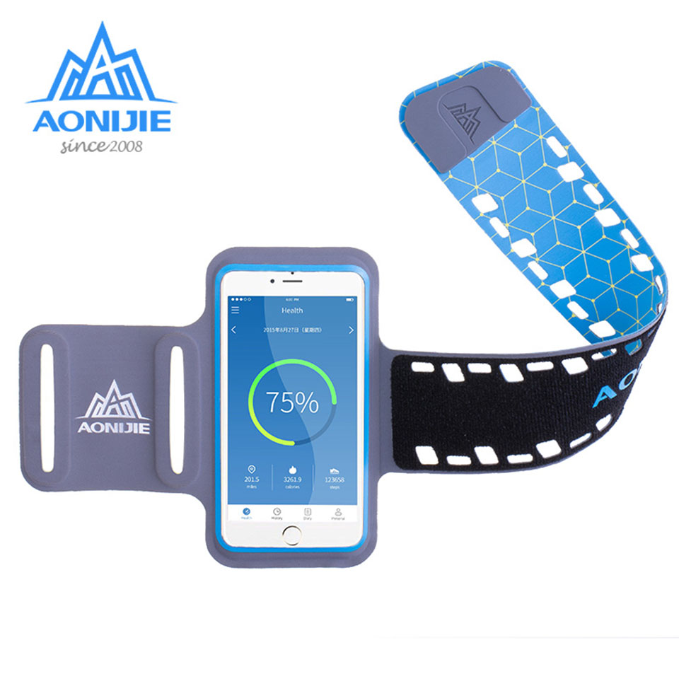 Aonijie Profession Waterproof Running Bag Gym Bag Sport Arm Band Phone Case For Phone 4.7/5.5inch Outdoor Arm Bag Agreeable To Taste Relojes Y Joyas