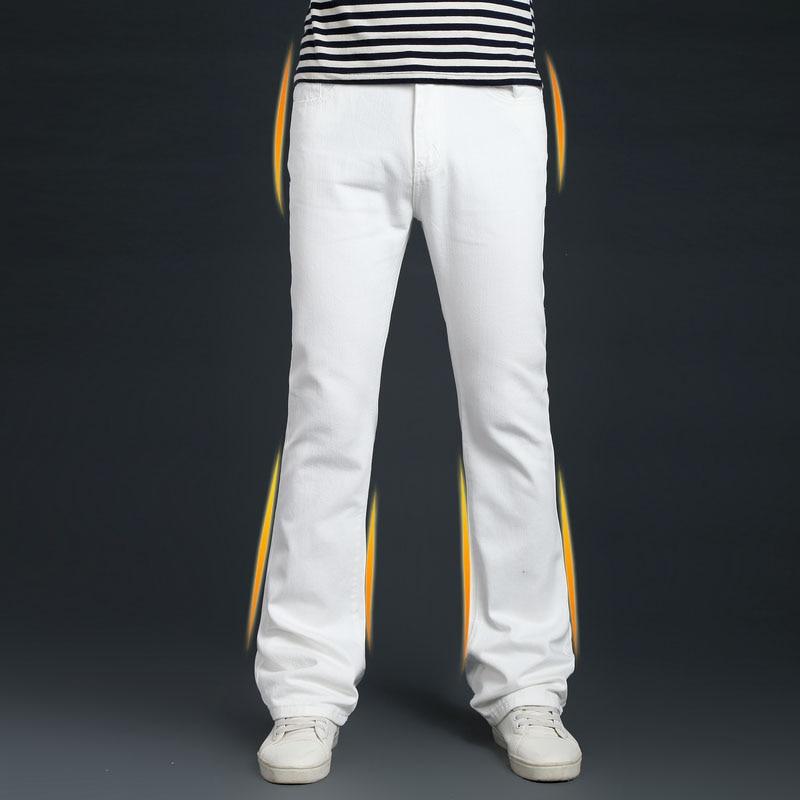 Autumn Mens bell bottom Denim Pants Winter Men White Flare   Jeans   Male Flared   Jean   Trousers Classic Boot Cut Slim pants 102301