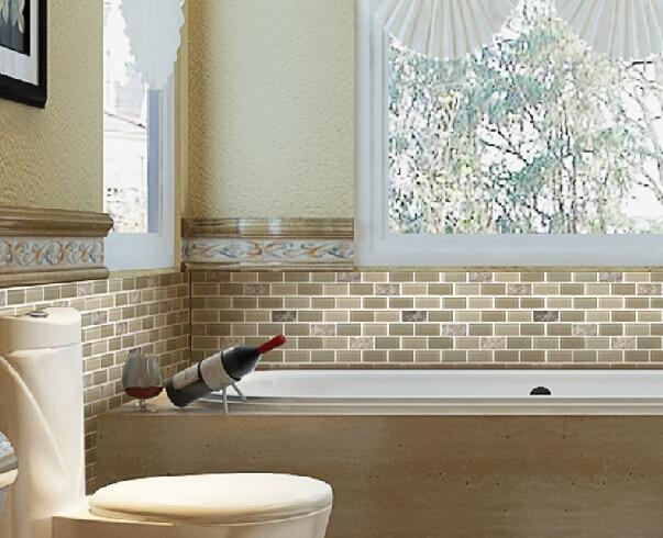 Cristallo di vetro mosaico di marmo pietra naturale mosaico di