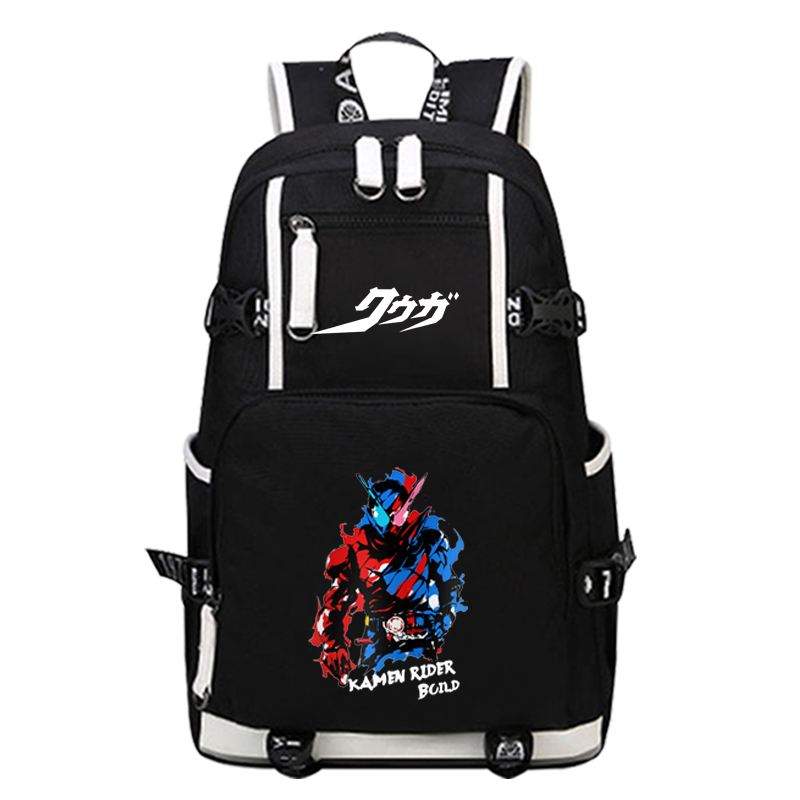 2018 Anime Masked Rider/Kamen Rider Luminous Printing Backpack Cartoon Hero Bags Canvas School Bags Kabuto/Decade Cosplay Bags 2017 new masked rider laptop backpack bags cosplay animg kamen rider shoulders school student bag travel men and women backpacks