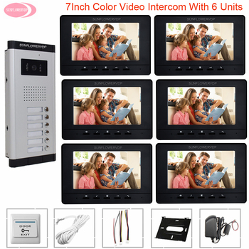 """7"""" Color Video Call With Monitor For Door Video Call To The Apartment Video Intercom For Home Video Intercom For A Private House"""