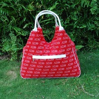 Wholesale Microfiber Large Handbag Red Letter Pattern Tote Bag With Good Quality DOM1038033