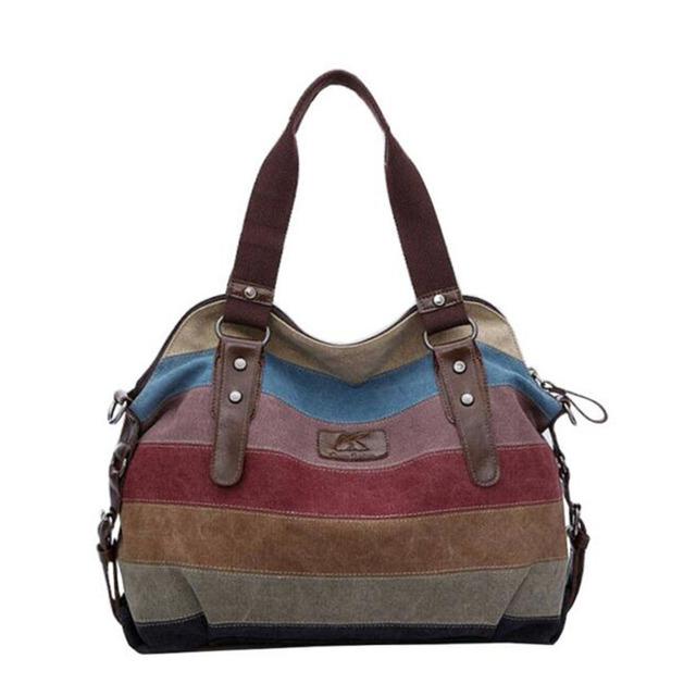 De alta calidad de la manera de las mujeres bolsos de lona súper patchwork bolso de compras bolso de las señoras del diseño de la vendimia de hombro ocasional de mano bag16t