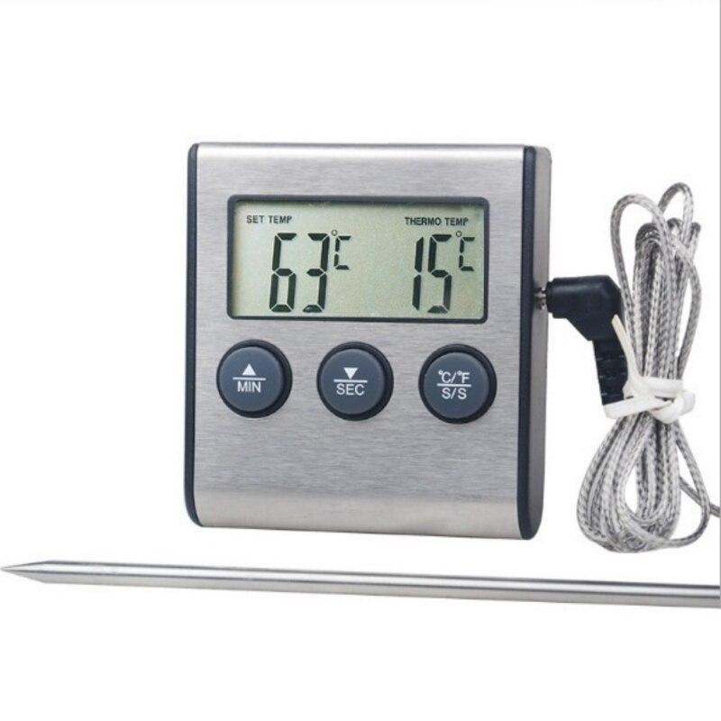 Küche Digitale Ofen Thermometer Lebensmittel Kochen Fleisch BBQ Sonde Thermometer Mit Timer Wasser Milch Temperatur Kochen Werkzeuge