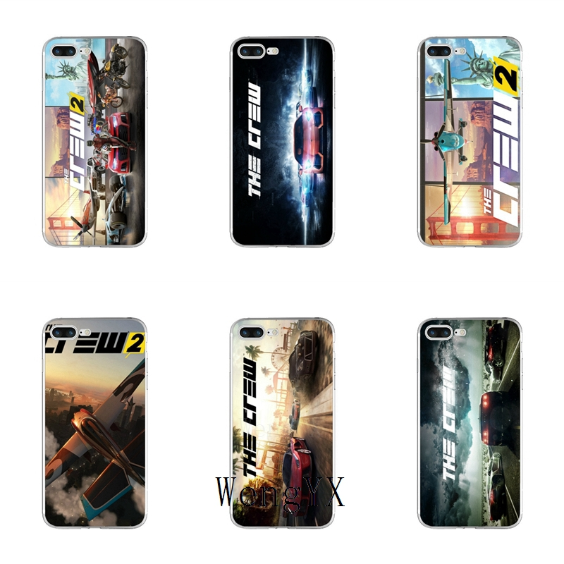 US $1 99  game The Crew 2 poster Slim silicone TPU Soft phone case For  Samsung Galaxy S3 S4 S5 S6 S7 edge S8 S9 Plus mini Note 3 4 5 8-in  Half-wrapped