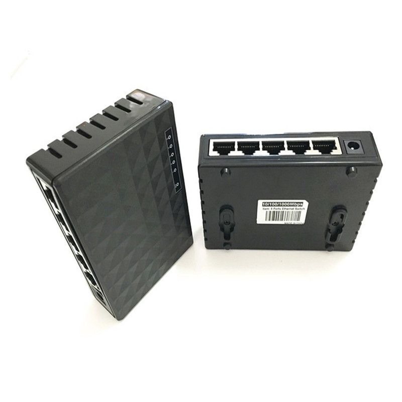 Image 4 - 10/100/1000Mbps Network Switch 5 Ports Mini Gigabit Switch Ethernet Switch Network Switch Hub Plastic Smart Adapter-in Network Switches from Computer & Office