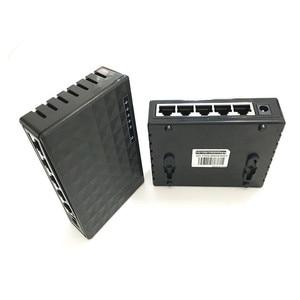 Image 4 - 10/100/1000Mbps Network Switch 5 Ports Mini Gigabit Switch Ethernet Switch Network Switch Hub Plastic Smart Adapter
