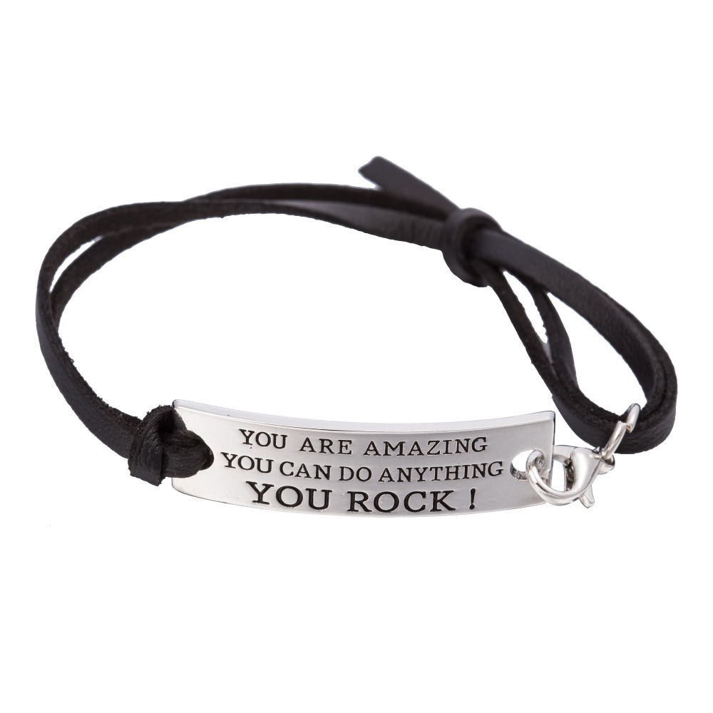 inspirational charm bangle p sliver bracelet message twisted footprints
